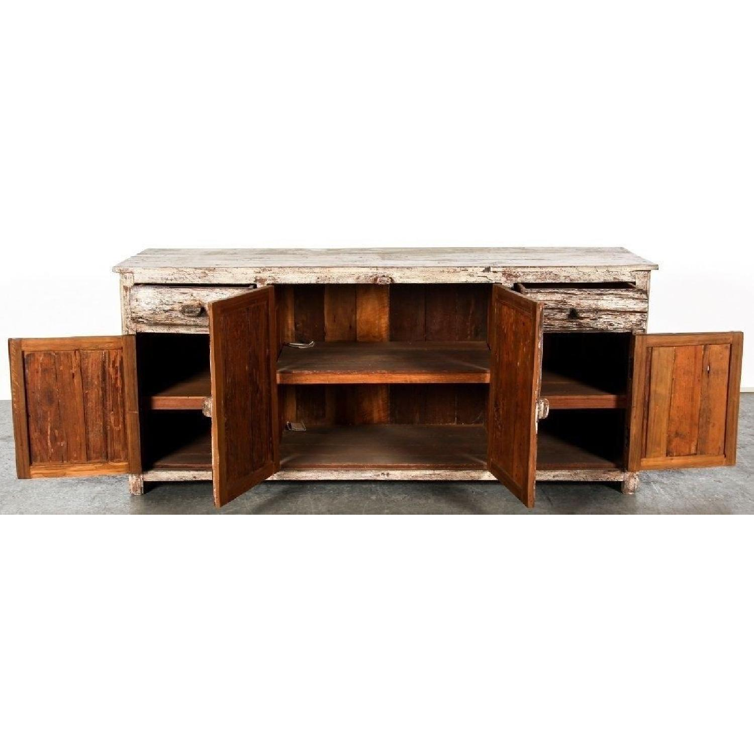 Distressed Rustic Country Wood Cabinet/Sideboard