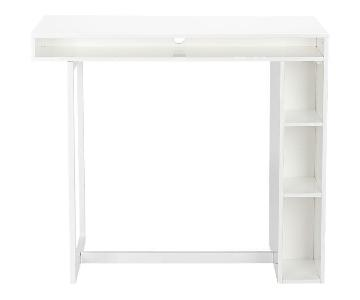 CB2 White High Dining/Cocktail Table