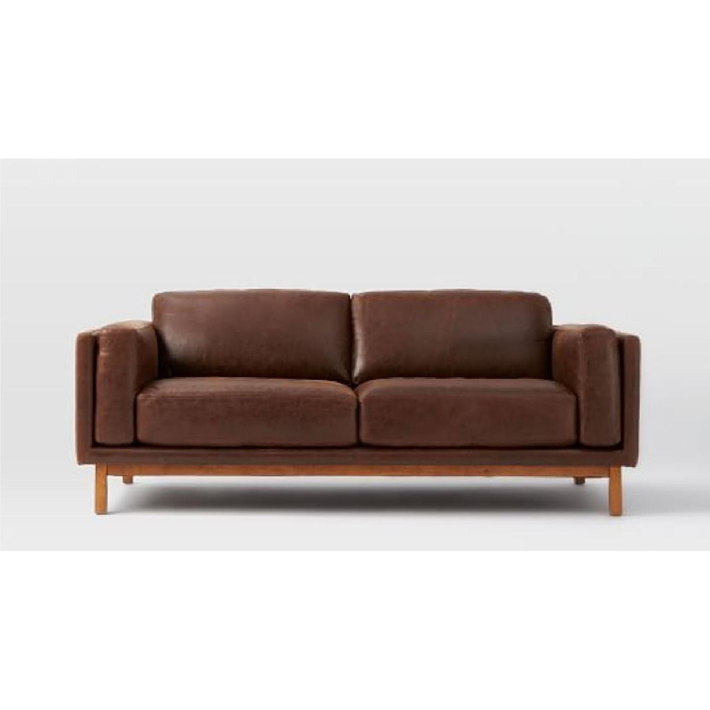 West Elm Dekalb Sofa in Molasses Leather