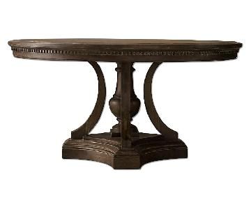 Restoration Hardware Round Hardwood Dining Table
