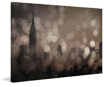 Parvez Taj Hand Signed Stretched Canvas - NY Sleeping