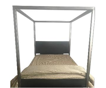 Restoration Hardware Metal Canopy Queen Size Bed