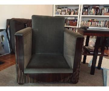 Art Deco Macassar Ebony Arm Chair