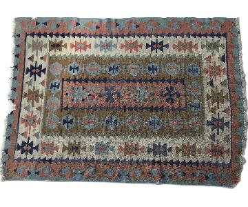 Vintage Hand Loomed Turkish Area Rug