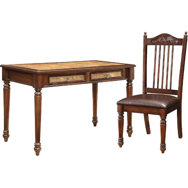 Merlot Decor Writing Desk & Chair