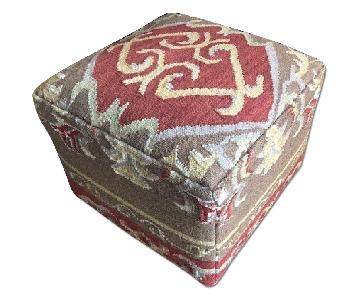 Patterned Cube Ottoman