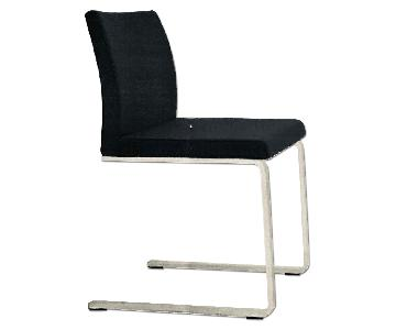 Lazzoni Aristo Black Leatherette/Chrome Dining Chair