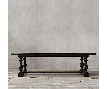 Restoration Hardware Wood Dining Table in Black