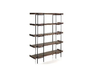 Crate & Barrel 5 Level Shelf in Mango Wood