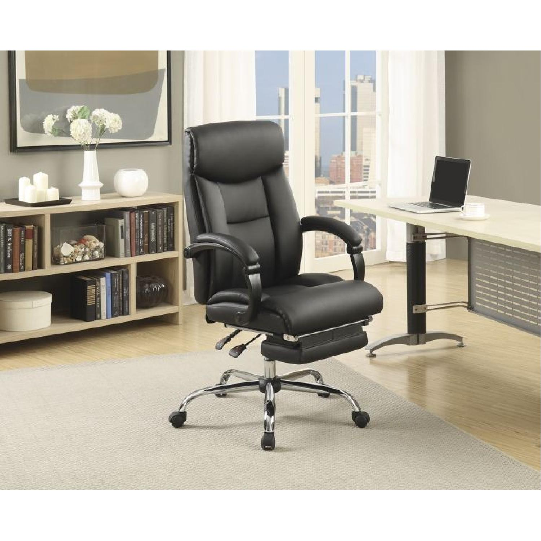 Modern Reclining Office w/ Retractable Leg-Rest - image-3