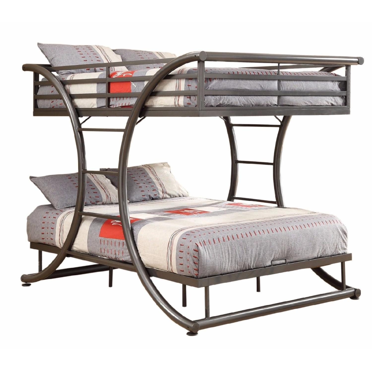 Full Over Full Steel Bunk Bed Finished in Gunmetal Finish - image-0