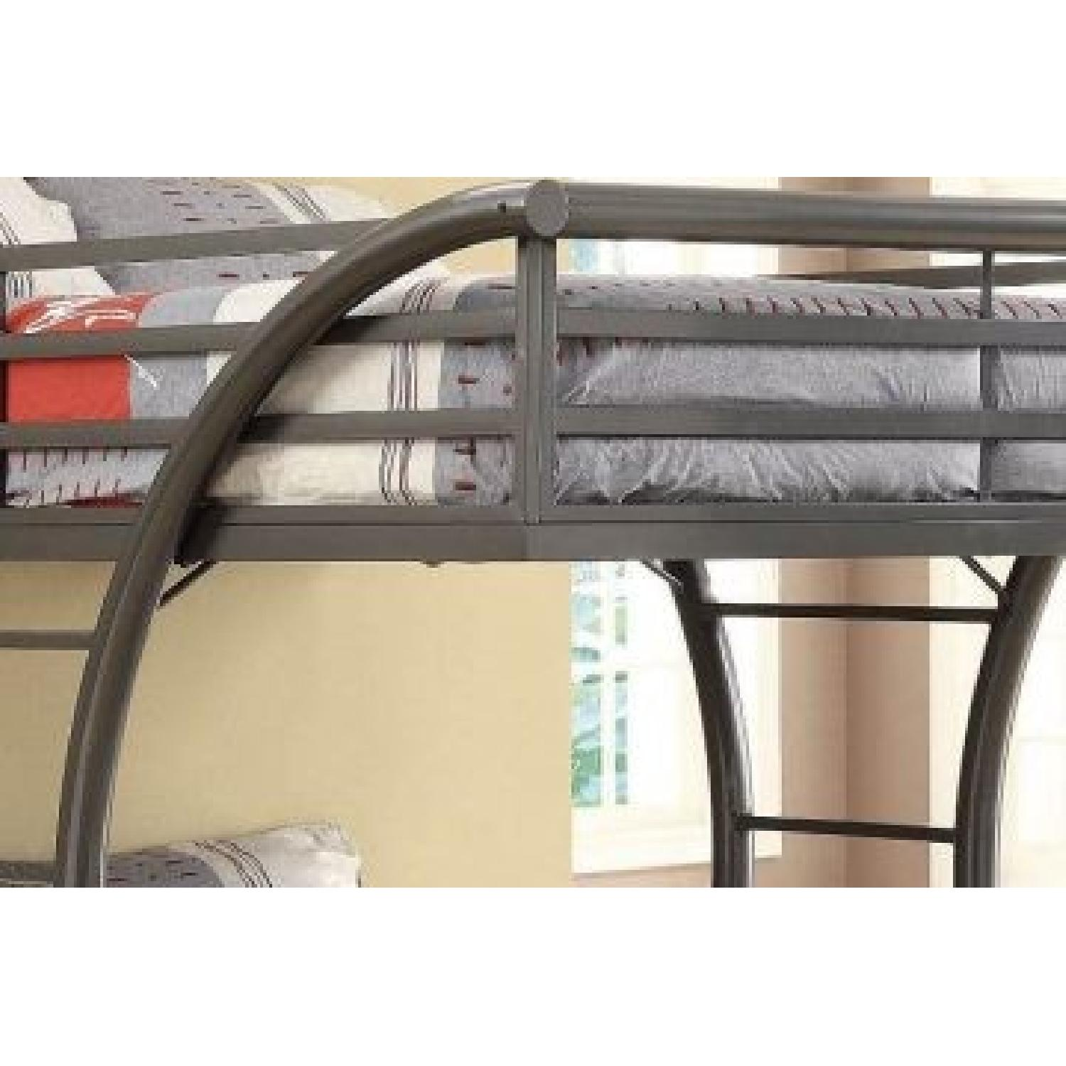 Full Over Full Steel Bunk Bed Finished in Gunmetal Finish - image-1