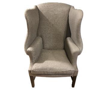 Restoration Hardware 1920s Georgian Wingback Chair
