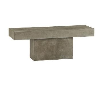 CB2 Fuze Grey Bench