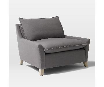 West Elm Bliss Grey Chair