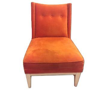 Jonathan Adler Orange Lounge Chair