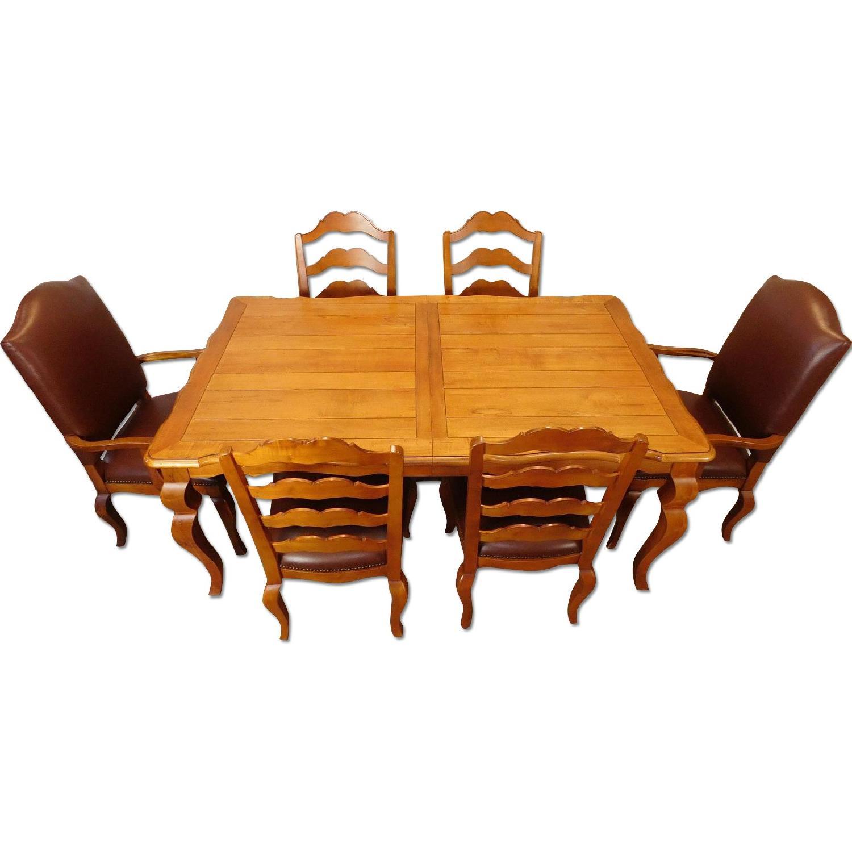 Ethan Allen Legacy Collection 7 Piece Dining Set Aptdeco