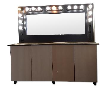 Rustic Make Up Table/Dresser w/ Mirror