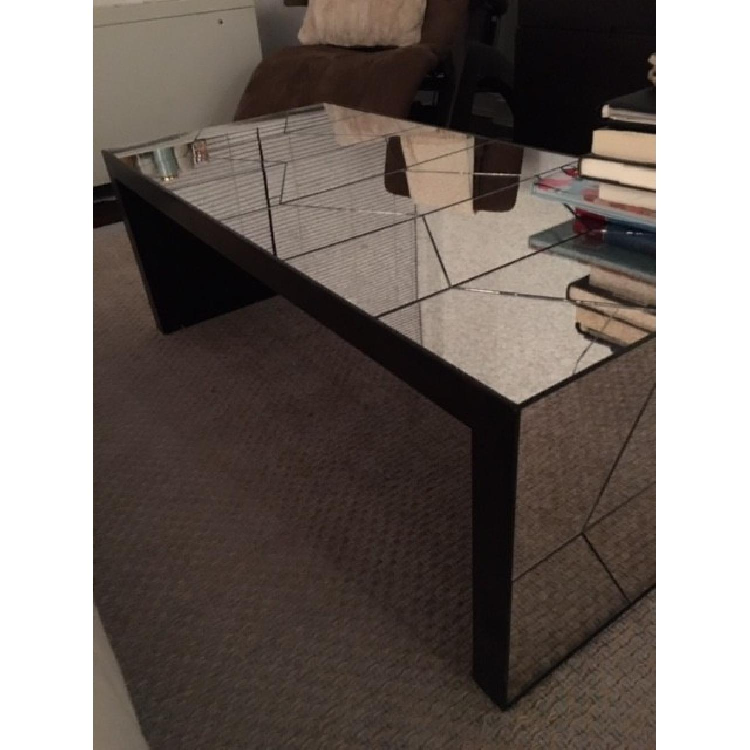 West Elm Herringbone Mirror Coffee Table AptDeco