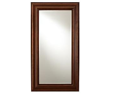 Pottery Barn Wood Frame Floor Mirror w/ Beveled Glass