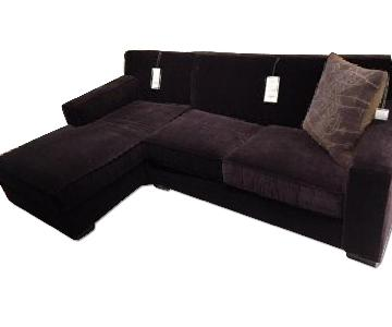 Mitchell Gold + Bob Williams Jean-Luc Dark Brown Sectional