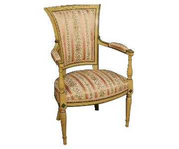 French Armchairs in Lacquered & Painted Wood