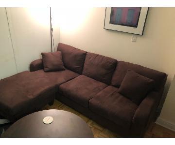Raymour & Flanigan Artemis II Microfiber Sectional Sofa