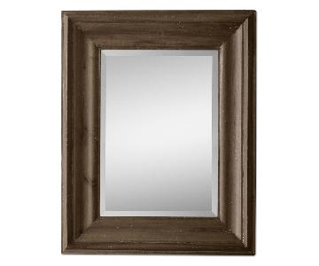 Restoration Hardware St James Brown Wood Mirror