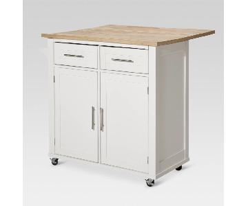 Target Kitchen Island w/ Wood Top & Storage