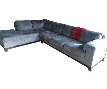 Dark Grey L-Shaped Sectional w/ Chaise & Pull Out Bed