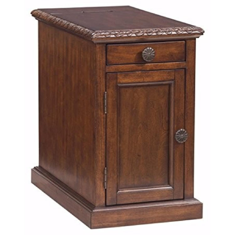Ashley Laflorn Dark Brown Chair Side End Table