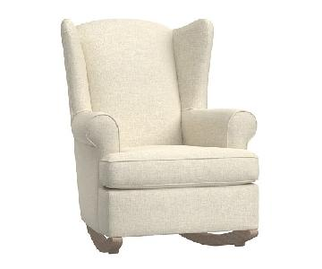 Pottery Barn Kids Wingback Glider in Off-White/Bone