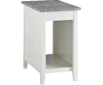 Ashley Diamenton White Chair Side End Table