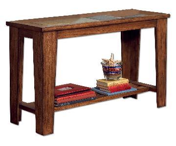 Ashley Toscana Rustic Brown Sofa Table