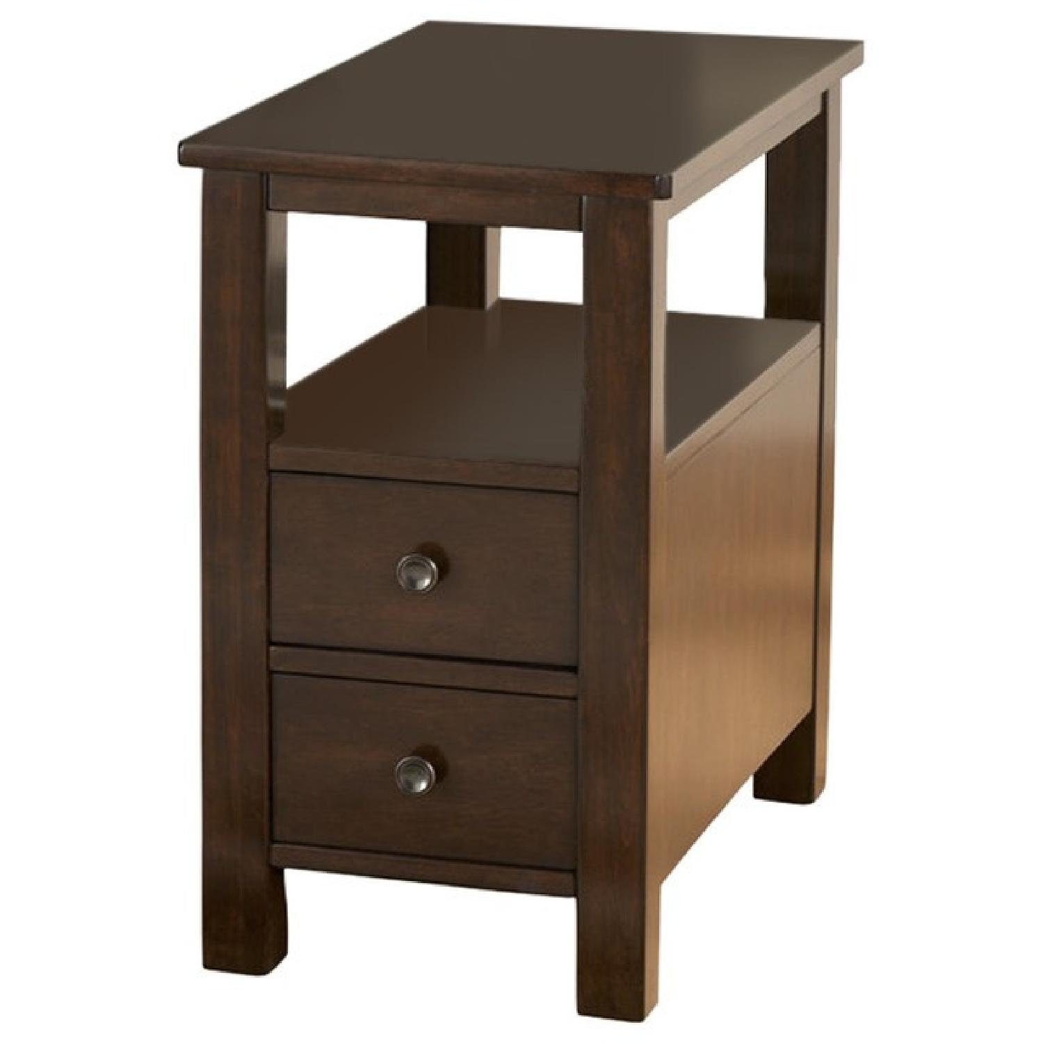 Ashley Marion Dark Brown Chair Side End Table