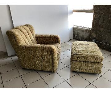 Vintage Mid Century Clamshell Armchair