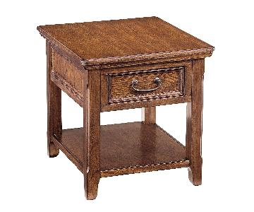 Ashley Furniture Woodboro Dark Brown Rectangular End Table