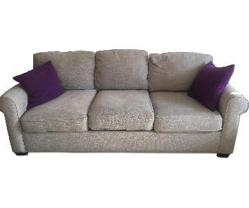 Pottery Barn Buchanan Roll Arm Upholstered Sofa