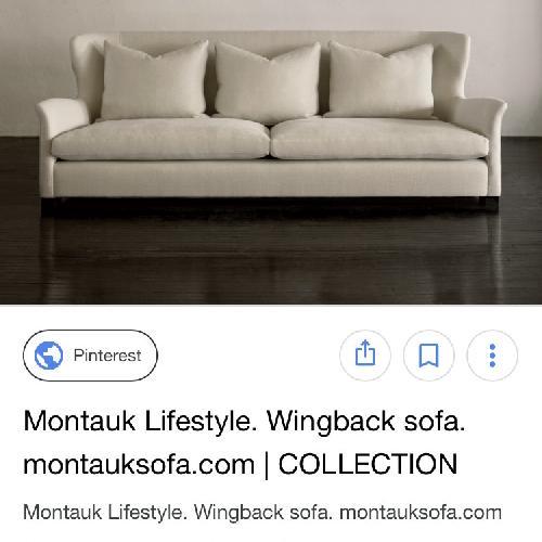 Used Montauk Sofa Wingback Sofa for sale on AptDeco
