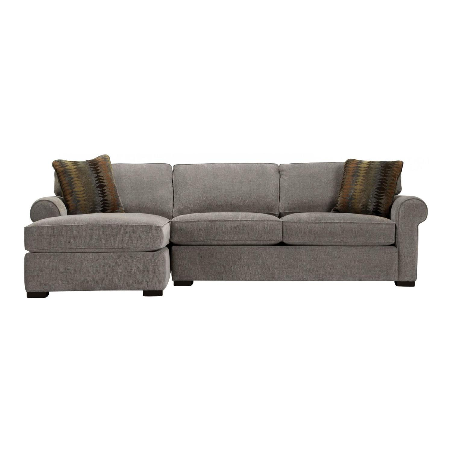 Raymour U0026 Flanigan Kipling Grey Sectional Sofa W/ Chaise ...