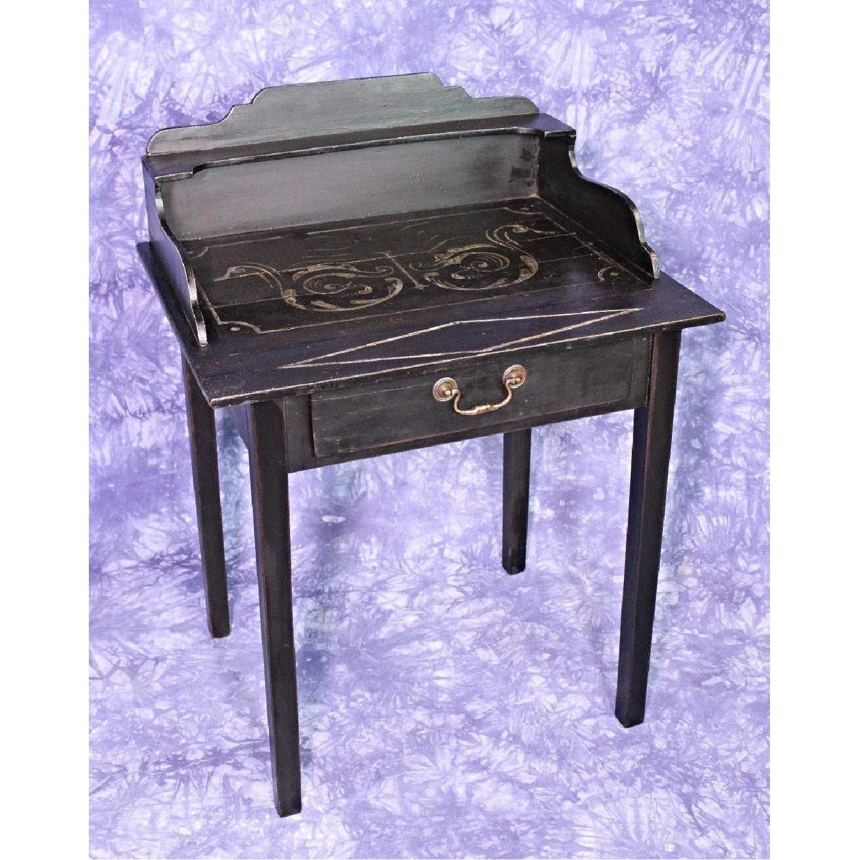 English 1920 Antique Black Painted Desk/Secretary - AptDeco