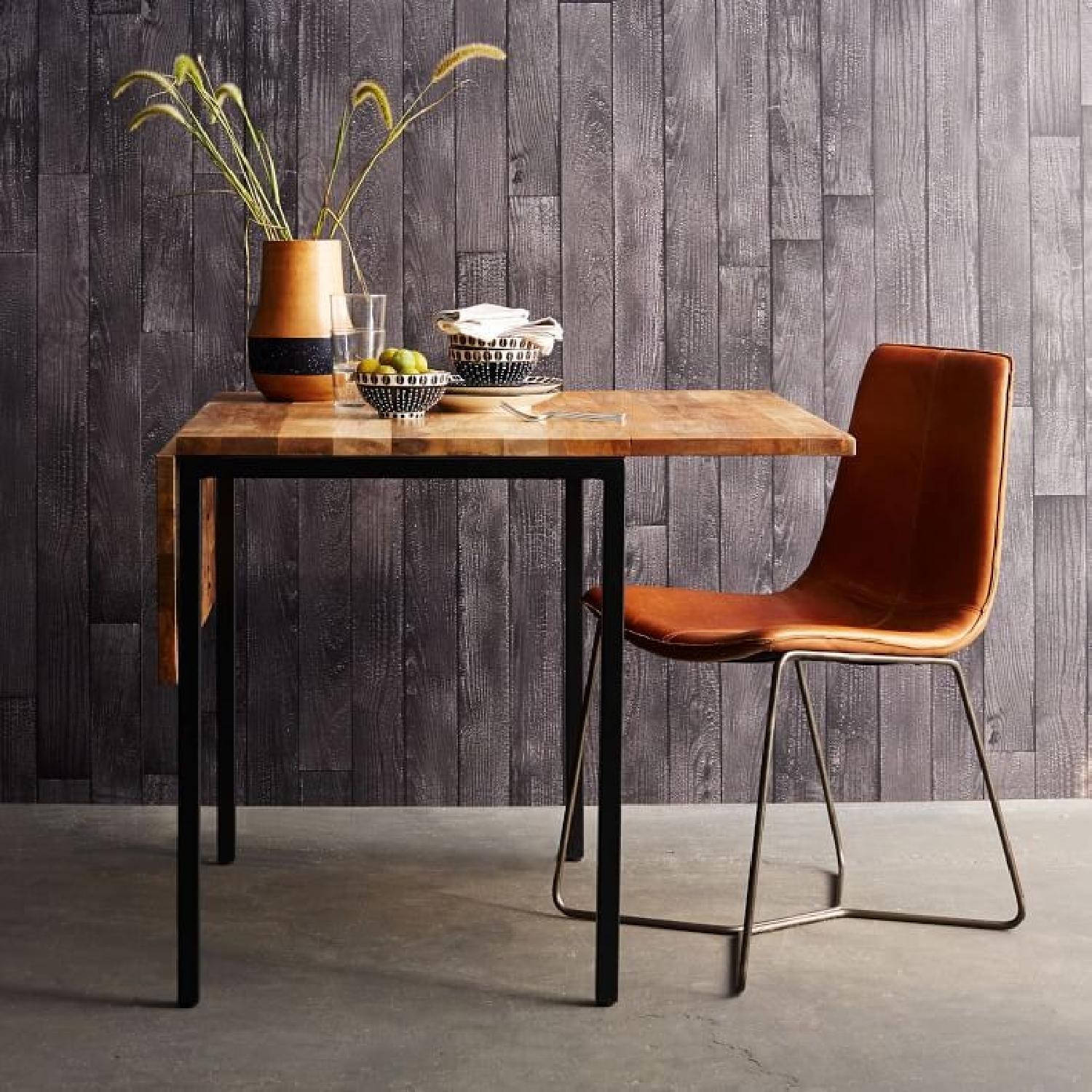 West Elm Box Frame Drop Leaf Dining Table AptDeco