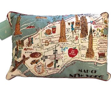 TJ Maxx Map of New York Feather-Filled Pillow