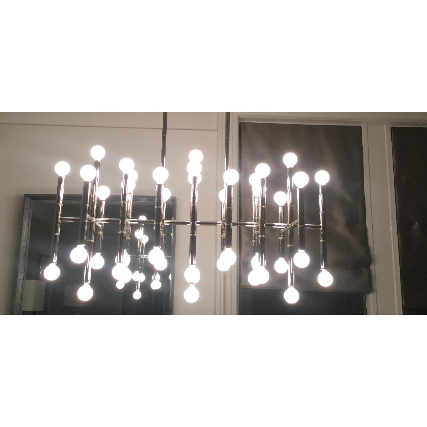 Jonathan Adler Meurice Rectangular Chandelier in Nickel AptDeco