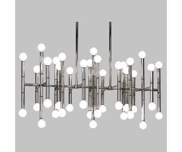 Jonathan Adler Meurice Rectangular Chandelier in Nickel