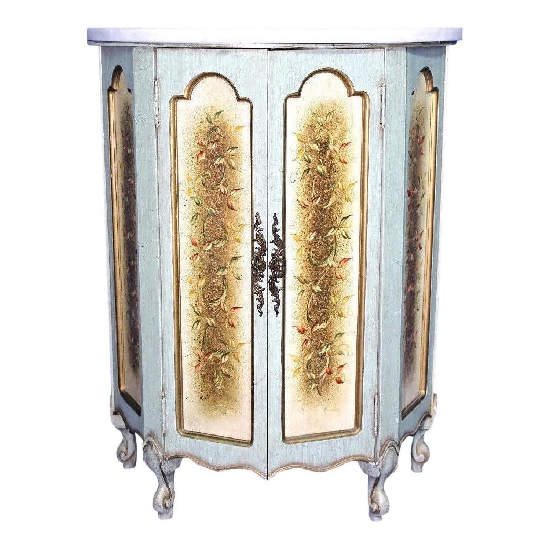 Portuguese Marble Top Cabinet/Console
