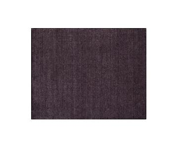 Crate & Barrel Baxter Plum Wool Rug