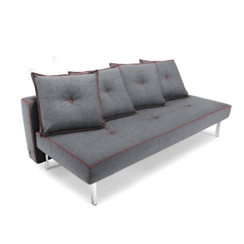 Innovation USA Danish Design Gray Futon w Red AptDeco