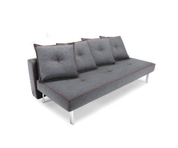 Innovation USA Danish Design Gray Futon w/ Red Stitching