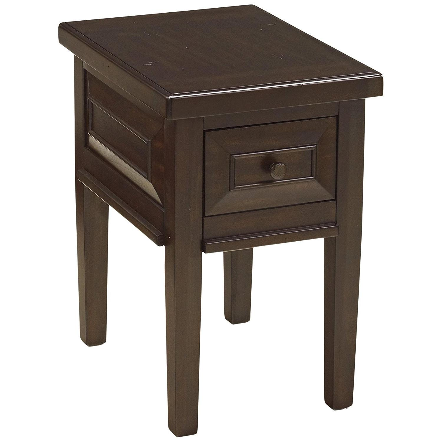 Ashley Furniture Hindell Park Rustic Brown Square End Table